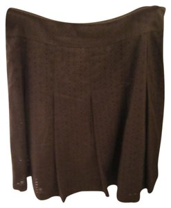 Charter Club Cotton Skirt brown-cream