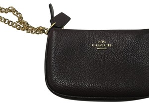 Coach Wristlet in Chocolate Brown