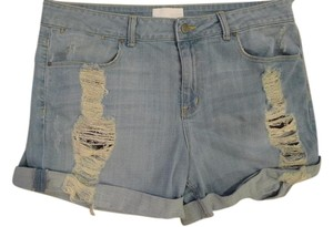 Fade to Blue Jeans Cut Off Shorts Blue