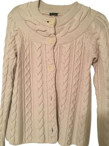 Magaschoni Cashmere Sweater Creme Color Cardigan