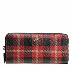 Coach Coach ACCORDION ZIP WALLET IN RILEY PLAID 55933