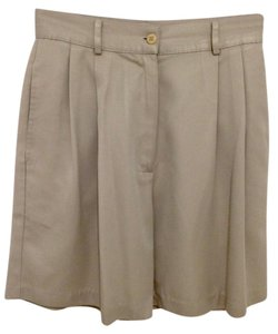 Ashworth Golf Front Pleats Shorts Khaki