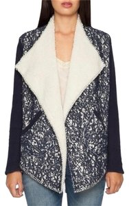 Biya Lace Sherpa Bohemian Denim Blue Jacket