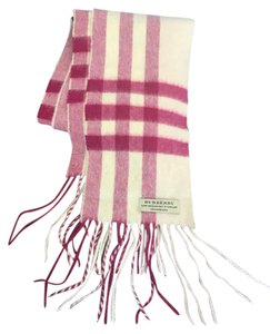 Burberry Burberry Giant Check Cashmere Pink Skinny Scarf