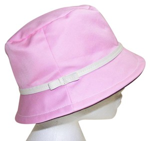 Coach Pink cloth with white leather trim Bucket