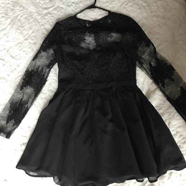 Missguided Black Sleeve Prom Short Cocktail Dress Size 6 (S) Missguided Black Sleeve Prom Short Cocktail Dress Size 6 (S) Image 4
