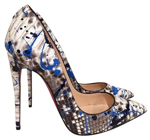 Christian Louboutin Snakeskin Python Stiletto Kate Sokate blue Pumps