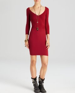 Free People Bodycon Longsleeve Stretchy Dress