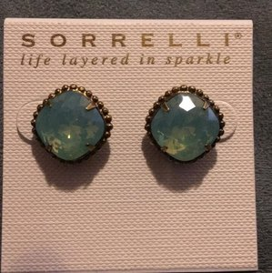 Sorrelli Cushion-Cut Solitaire Earring in Pacific Opal