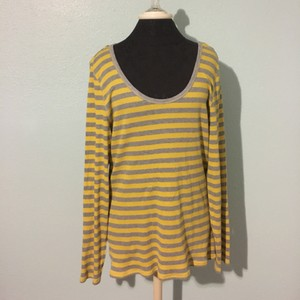 Old Navy Top Yellow and grey