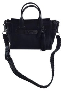 Coach Satchel in Black / Gunmetal