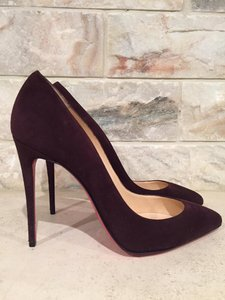 Christian Louboutin Pigalle Follies Suede Leather wine Pumps