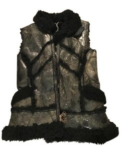 Matthew Williamson Leather Shearling Vest