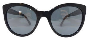 Chanel Chanel Round Buttefly Black Sunglasses La Boy frame Mirrored lenses