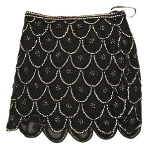 Yumi Kim Beaded Mini Mini Skirt Black