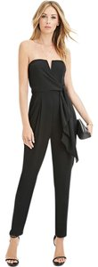 Forever 21 Strapless V-neck Tie Jumpsuit Dress