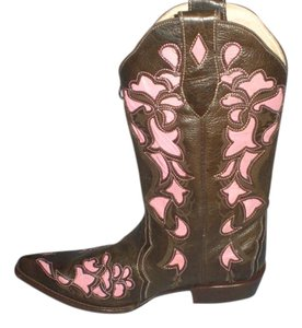 VEARI BROWN PINK Boots