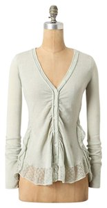 Anthropologie Ruffle Sweater Cardigan