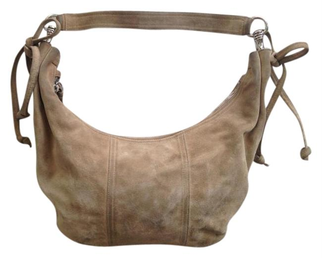 Item - Tan Suede Leather Hobo Bag