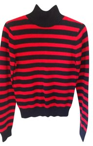 Polo Sport Black/red Striped Cotton Knit Sweater