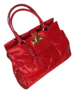 Marc Jacobs Cherry Quilted Satchel in Red