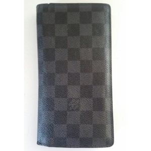 Louis Vuitton UNISEX Louis Vuitton Damier Graphite Brazza Wallet