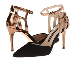 French Connection Black/Copper Pumps