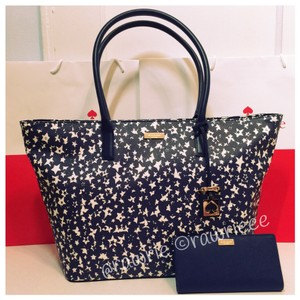 Kate Spade Large Tote Gift Set Navy Travel Bag