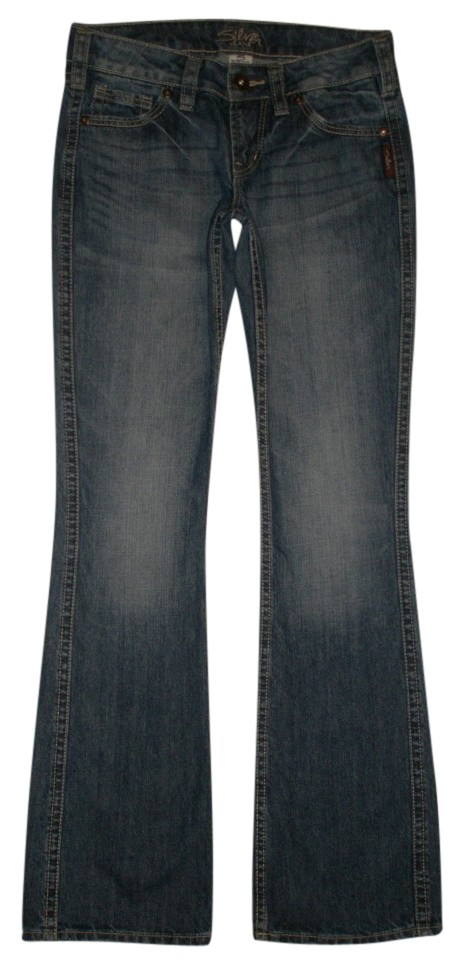 30349c40 Silver Jeans Co. 5 Pocket Style Zip Fly Boot Cut Jeans-Medium Wash Image ...