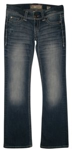 BKE 5 Pocket Style Zip Fly Cotton/Poly/Spandex Boot Cut Jeans-Medium Wash