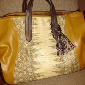 Charles Jourdan Leather Tan Tassle Shoulder Bag