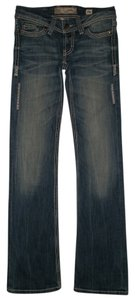 BKE 5 Pocket Style Zip Fly Cotton/Spandex Boot Cut Jeans-Medium Wash