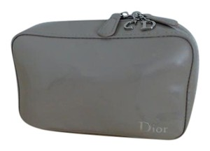 Dior Christian Dior Beige Patent Leather Cosmetic Bag