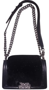 Chanel Fur Leather Chain Crystal Shoulder Bag