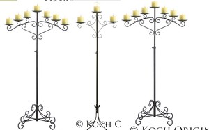 Unity Candle And Matching Candelabras