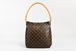 Louis Vuitton Tan Coated Canvas Leather Looping Gm Shoulder Bag
