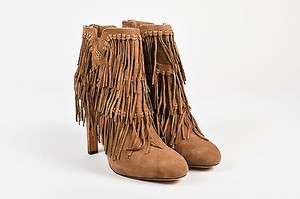 Jean-Michel Cazabat Suede Fringe Pepe Tan Boots