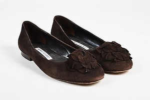 Manolo Blahnik Chocolate Brown Flats
