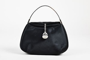 Judith Leiber Satin Satchel in Black