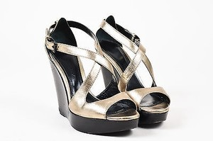 Burberry Metallic Silver Sandals