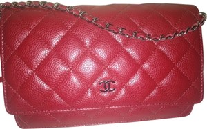 Chanel Caviar Lipstick Silver Chain Logo Quilted Classic Shoulder Bag