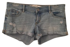 Abercrombie & Fitch Cuffed Shorts Blue