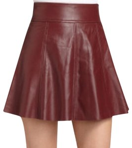 Patterson J. Kincaid Mini Skirt Burgundy