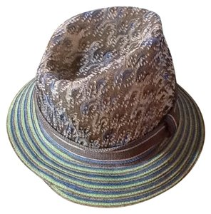 Missoni Striped medium brim and abstract crown Trilby hat.