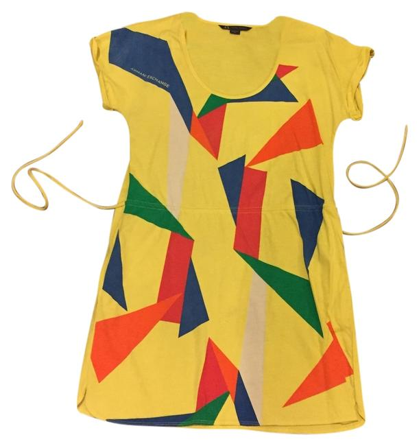 Preload https://item1.tradesy.com/images/ax-armani-exchange-multicolored-yellow-red-blue-orange-green-above-knee-short-casual-dress-size-8-m-1997075-0-0.jpg?width=400&height=650