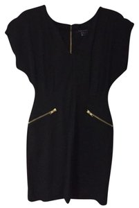 French Connection Lbd Gold Hardware Gold Sleeveless Dress