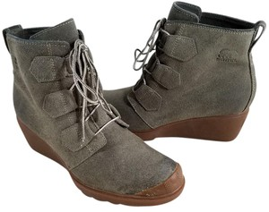 Sorel Lace-up Waterproof Wedge Oiled-suede Back Pull Tabs MAJOR BROWN Boots