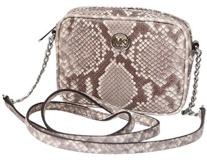 Michael Kors MICHAEL KORS FULTON EMBOSSED LEATHER SMALL CROSSBODY BAG NWT