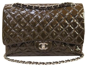 Chanel Patent Leather Maxi Shoulder Bag
