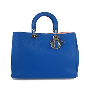 Dior Tote in Blue / Pink